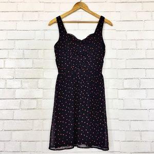 Mini Heart Print Sweetheart Retro Style Dress